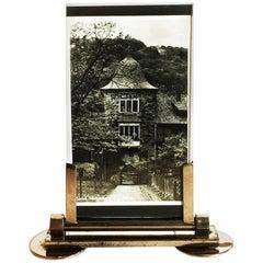 French Art Deco Chrome Photo Frame