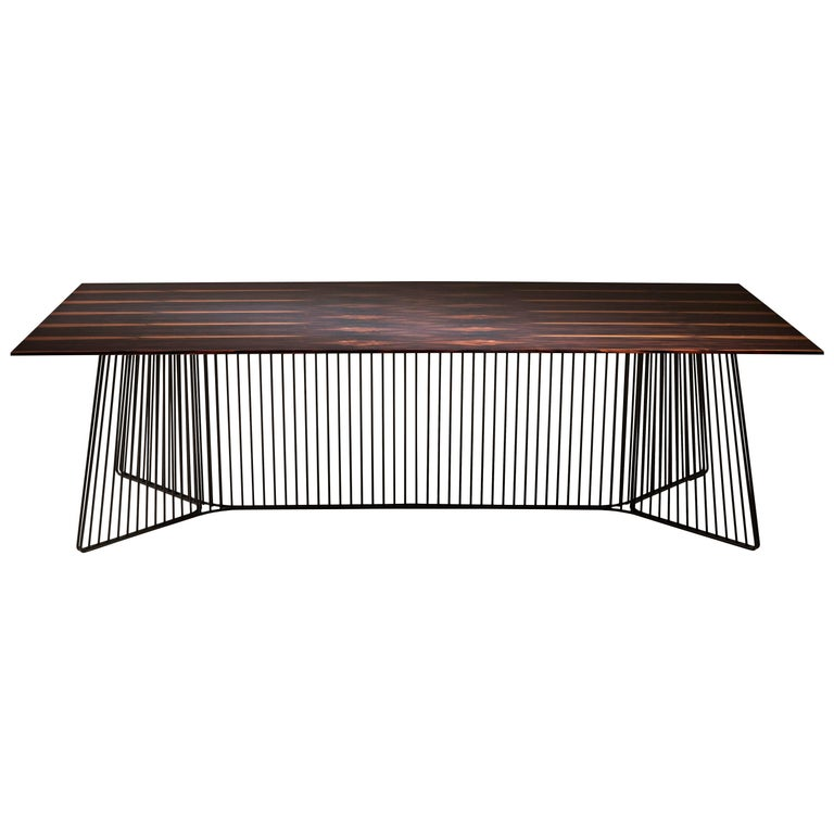 """""""Anapo"""" Chestnut, Macassar or Marble Top Table by Gordon Guillaumier for Driade"""