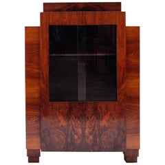1920 Art Deco / Modernist Architectural Bar Cabinet