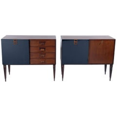 Pair of Mid Century Cabinet-Sideboard by F.lli Proserpio, Signed