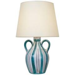 R Picault Ceramic Table Lamp