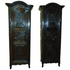 Pair of Armoires hand carved , circa 1760
