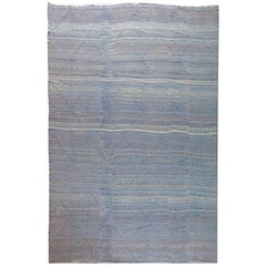 Oversized-Blue Deux Diamond-Moroccan Flat-Weave Rug