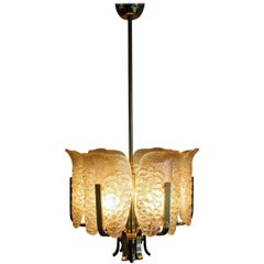 Wonderful Glass Chandelier by C. Fagerlund for Orrefors, Sweden, circa 1960s