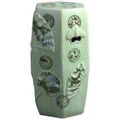Oriental Celadon Glazed Ceramic Garden Seat