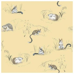 Hedgehog and Dormouse Wallpaper from the for the Very Young Collection