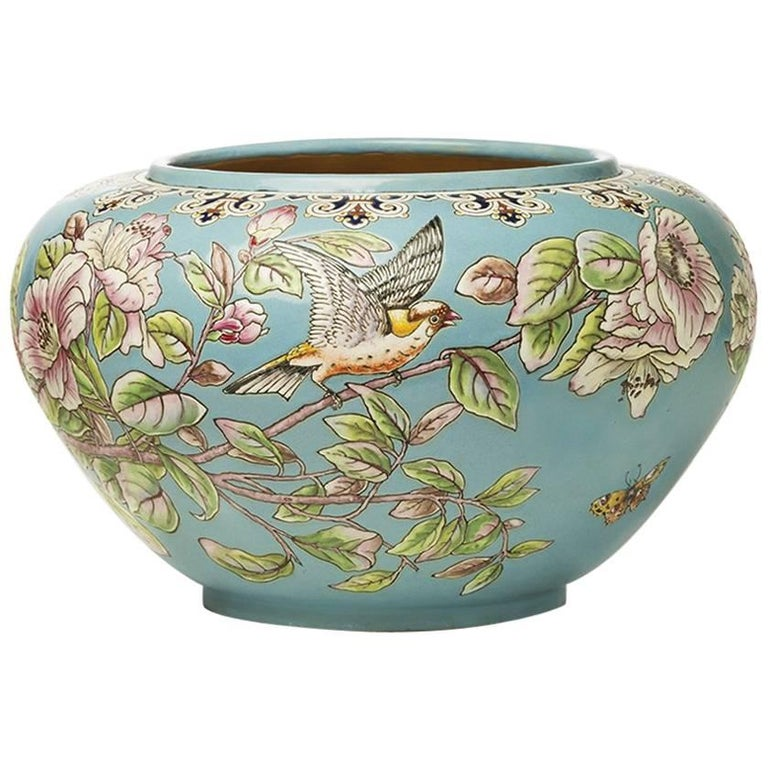 Eugène Collinot-Japonisme Cache Pot, circa 1870 For Sale