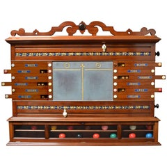 Billiard snooker pool table scoring cabinet marker victorian english 1870