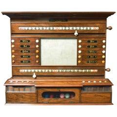 Billiard, Snooker or Pool Scoring Cabinet, Exceptional Walnut Figuring
