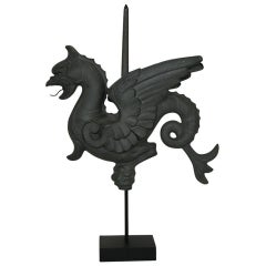 19th Century French Zinc Dragon Weathervane