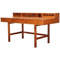 Danish Teak Wood Flip Top Desk by Peter Lovig-Nielsen, 1970s