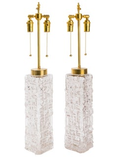 Carl Fagerlund Sculptural Glass Table Lamps