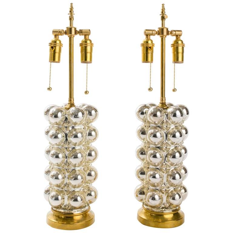 Bubble Mercury Glass Lamps