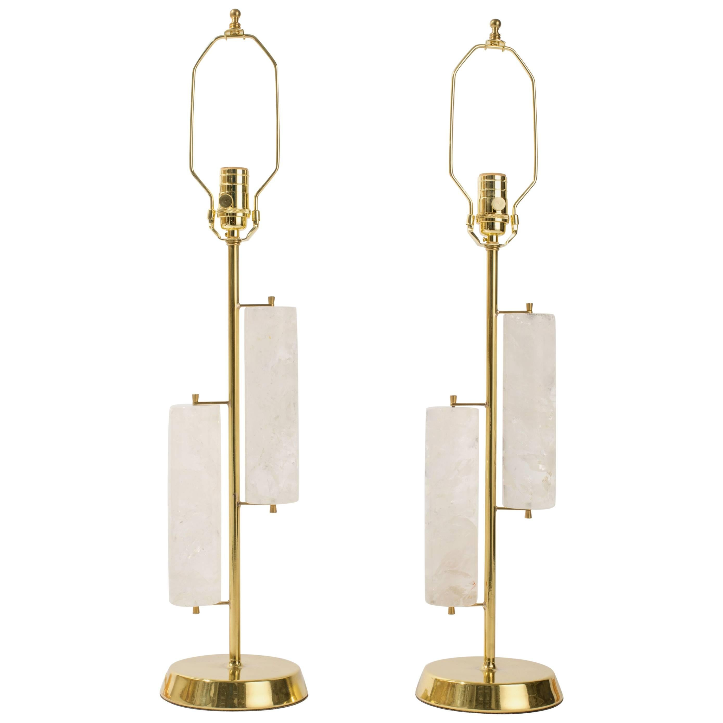 Rock Crystal Cylinder Lamps, Eon Collection