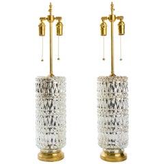 Textured Mercury Glass Lamps