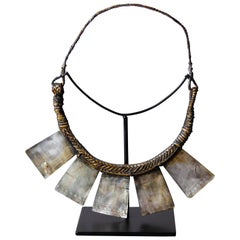 Mother of Pearl Gorget on Stand