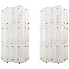 Pair of Rock Crystal Wall Sconces, Limited Edition