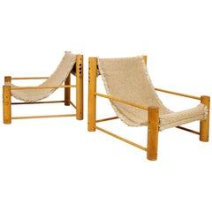 Pair of Elegant, Vintage Slipper Chairs, circa 1970, France