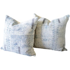 Batik Color Block Style Accent Pillows