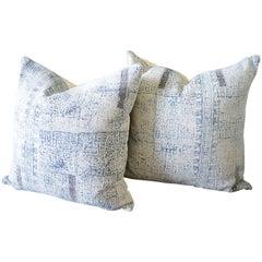 Batik Color Block Style Accent Pillows
