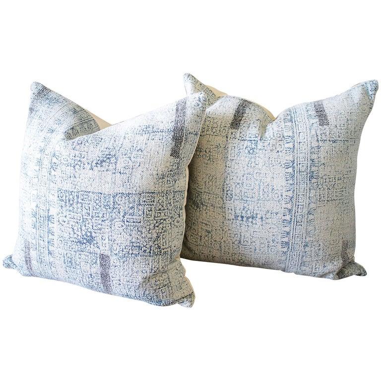 Batik Color Block Style Accent Pillows For Sale