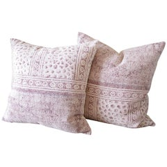 Boho Chic Color Block Over Dyed Pillow