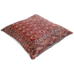 Persian Balouch and Leather Floor Cushion