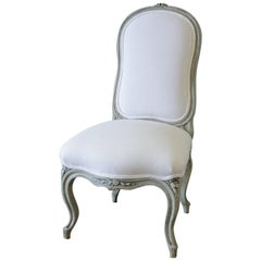 20th Century Painted and Upholstered Louis XV Style Childs Chair
