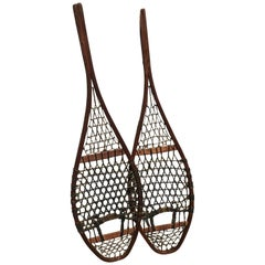 Handsome Pair of 19th Century Snow Shoes, Great as Wall Sculpture