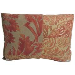 Vintage Fortuny Patchwork Lumbar Decorative Pillow