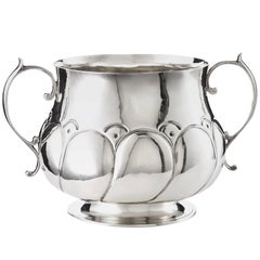 English Arts & Crafts Sterling Centerpiece and Wine Cooler