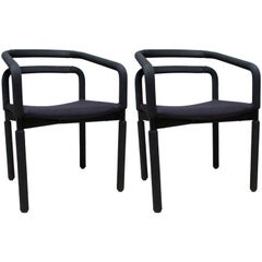 Pair of Black Office or Desk Chairs by Metropolitan