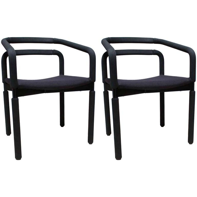 Pair of Black Office or Desk Chairs by Metropolitan
