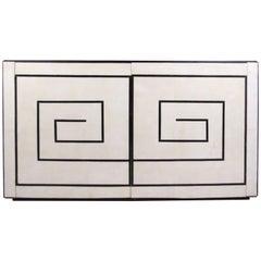 Stylish Modern Parchment Credenza