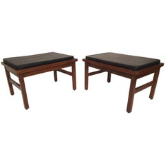Pair of Side Tables with Cushions