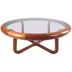 Scandinavian Modern Sculptural Teak Coffee Table by Uldum