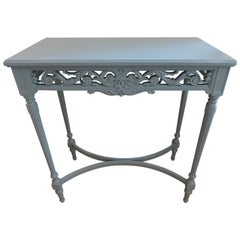 Decorated Small Americana Console Table