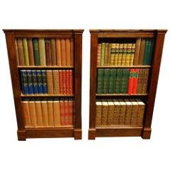 Good Pair of Victorian Mahogany Dwarf Bookcases