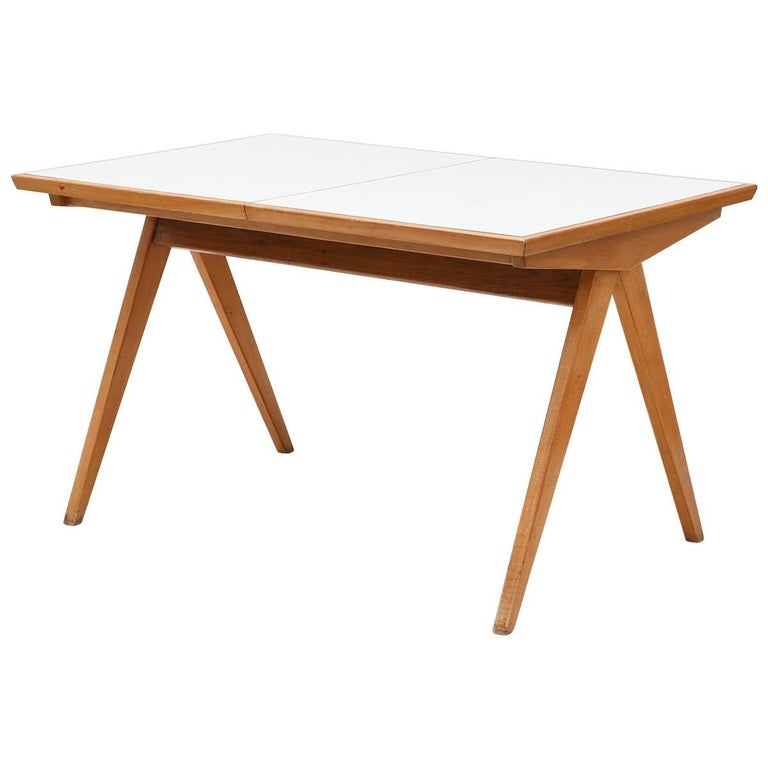 1940s Maple Dining Table with Leaf by Allan Gould 1