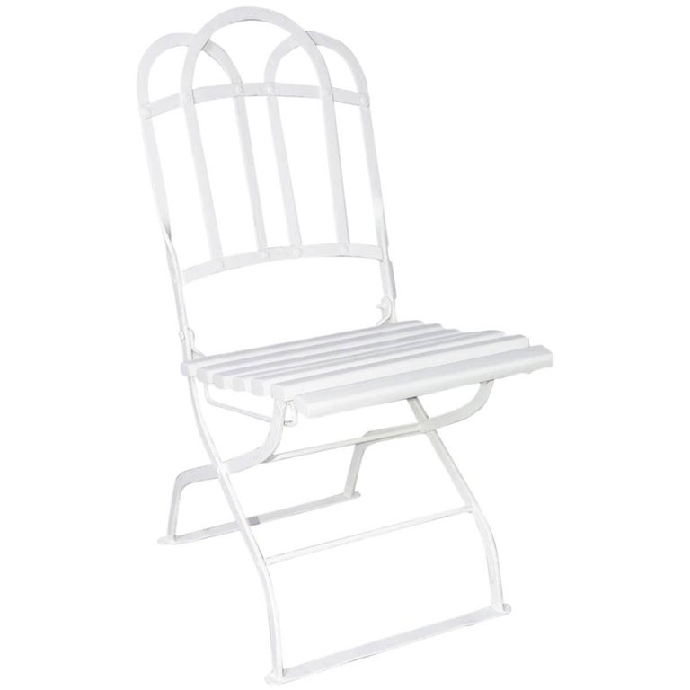 Antique French Folding Bistro Chair
