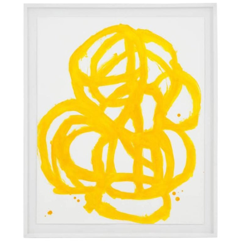 Tim Forcum Original Framed Yellow Abstract For Sale
