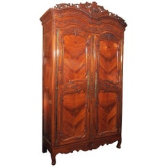 Antique French Cherry Wood Armoire