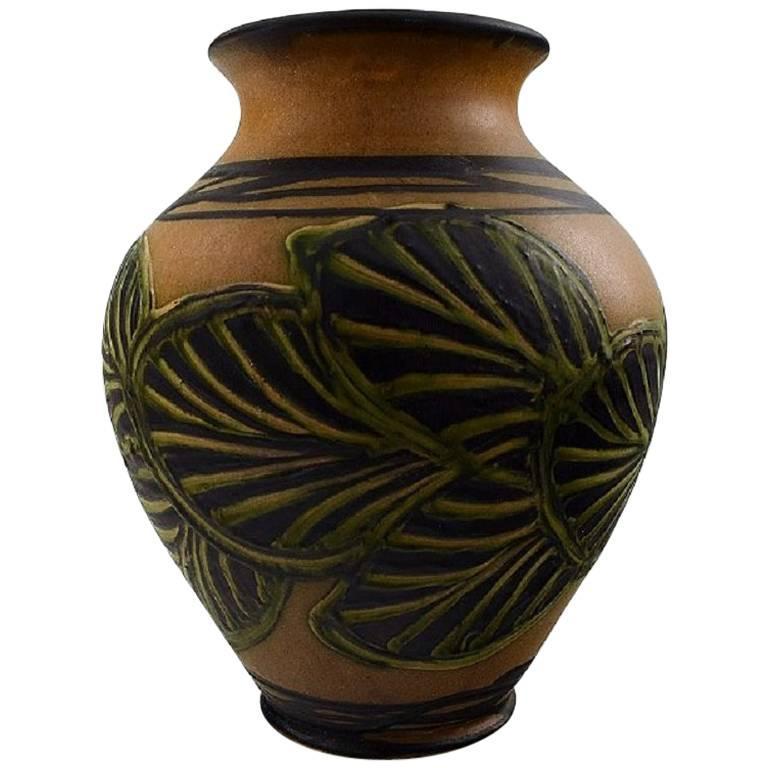 k hler denmark large glazed stoneware vase in modern design 1930s 1940s for sale at 1stdibs. Black Bedroom Furniture Sets. Home Design Ideas