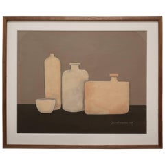 Painting of Three Vases and Bowl by Jerry Williamson