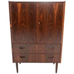 Danish Modern Brazilian Rosewood Bureau Dresser