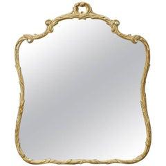 Italian Rococo Style Painted Giltwood Foliate Mirror