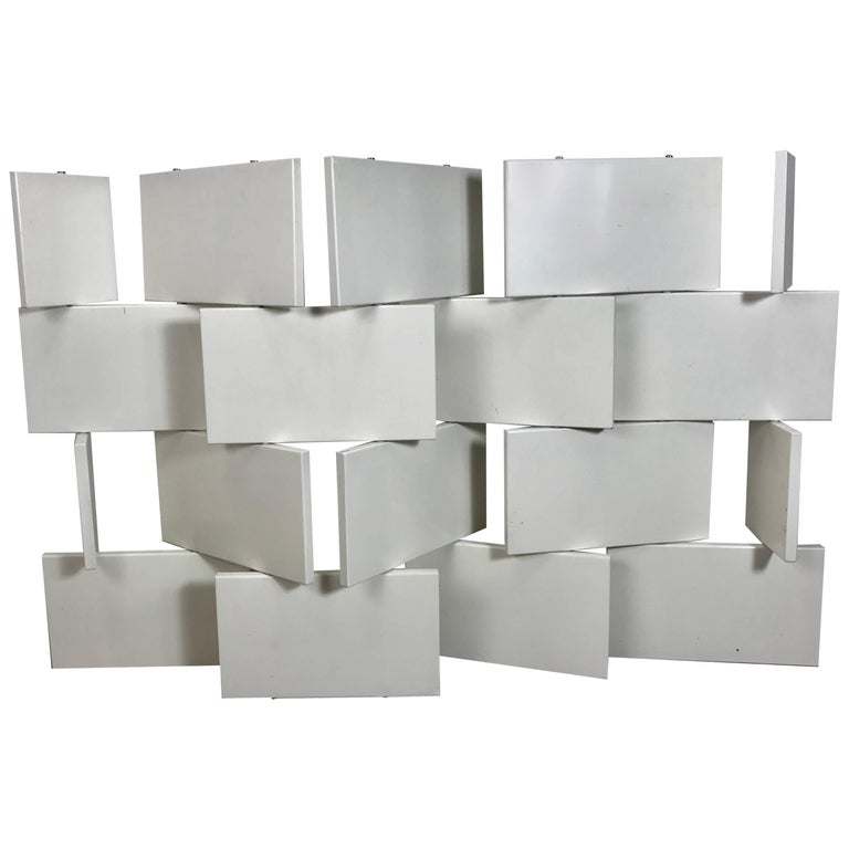 Brick Screen, White Lacquer Room Divider