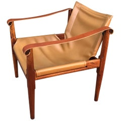 Brown Saltman Sling Chair Pasadena Art Museum 1968 California Design Ten Exhibit