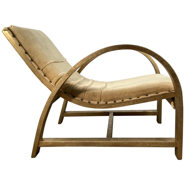 Art Deco Streamline Lounge Chair Designed by Gilbert Rohde for Heywood Wakefield