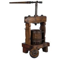 Rare Antique European Wine Press